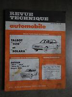REVUE TECHNIQUE AUTOMOBILE RTA TALBOT 1510 SOLARA DATSUN 100 120 1980