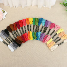 50pcs Cross Floss Stitch Thread Hand Embroidery Sewing Skein Crafts Floss Lines