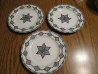 """Pfaltzgraff -Vintage Crystalflora   (Set of 3)  8 1/4"""" Salad Plates  ATMOSPHERE"""