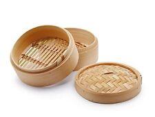 Cuocivapore vaporiera cuoci cottura vapore bamboo bambù diametro 15 cm