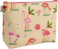 NEW Vagabond Bags Florence Flamingo Toiletry/Make-Up Bag Large 30 x 22 x 10 cms