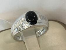 10KT.White Gold Onyx men's ring.3.70 grams.size 10.5