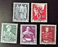 Switzerland 1941.  5 stamps, all used.