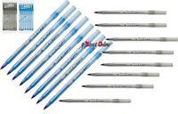 8 PK BIC ROUND STIC Ball Point Biro pens Medium BLACK BLUE ink School Office Art