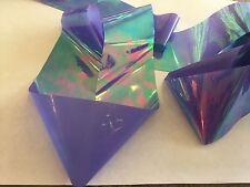 Nail art /holographic broken glass angel paper /foil Lilac 1 meter length