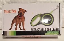 NIB>>Mighty Paw Retractable Dog Leash>>16'>>For Dogs up to 50 Lbs>>Non-Slip Grip