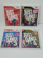 Just Dance 1 2 3 4 Nintendo Wii Complete Tested