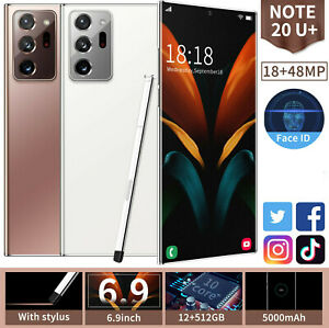 Note20 U+ 12+512GB Android Smartphone 10 Core Face Unlock 6.9 Inch Mobile Phone