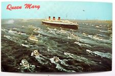 Vtg 1950 QUEEN MARY Welcoming Recption (Ship) Long Beach CALIFORNIA POSTCARD