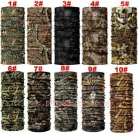 Outdoor Forest Camo UV Face Mask Sun Mask Neck Gaiter Balaclava Scarf Headwear