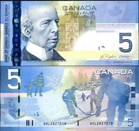 """2006 Series 5 $ Gem UNC CANADA Five Dollars discontinued /""""paper/"""" Banknote"""