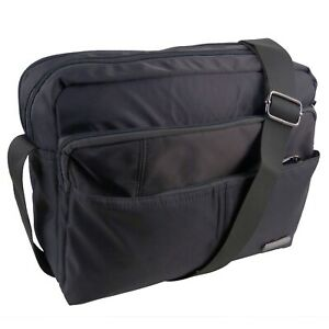 Lorenz Nylon Unisex Cross Body Bag Shoulder bag Black, Navy, Grey and Dark Teal