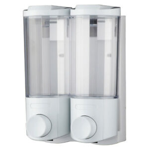 Soap Dispenser Bathroom Wall Mount Shower Shampoo Lotion Container Holder System
