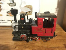 Vintage LGB 100th aniversary edition Swiss-style steam loco with two carriages
