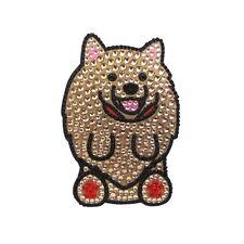 Pomeranian Dog Rhinestone Glitter Jewel Phone Ipod Iphone Sticker Decal