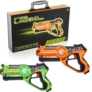Strike Laser Tag Game 2 Player Battle Set Toy Shooting Gun Blasters For Kids