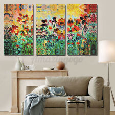 3PCS/Set Large Abstract Flowers Canvas Print Wall Art Painting Picture NO frame