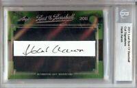 Hank Aaron 2011 Leaf Best of Baseball Cut Signature Auto B Braves #