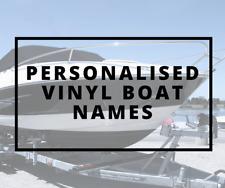 4 x personalised vinyl boat names decals