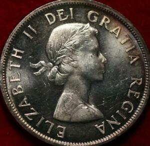 Uncirculated Toned 1958 Canada Silver One Dollar Foreign Coin