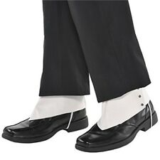 Amscan Roaring '20s Costume Party Gangster Spats - Adult, White, One Size -