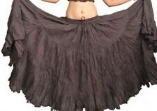 "Brown American Tribal Gypsy 25 yards yard bellydancing cotton skirt L39/40"" ATS"