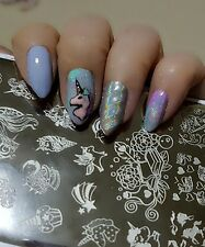 Nail Art Stamping Unicorn Pattern Manicure Template Image Plate DIY New L045