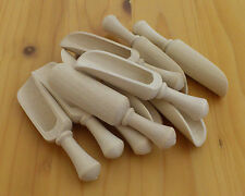 10 pcs Wooden Scoops for Spices. 2.8 inches / 70mm 100% Natural Wood Handmade