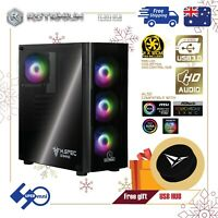 PC Case Full ATX with 4x120mm ARGB Cooler Fan and Controller Tempered Glass