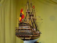 "Hobby Scale 1/50 San Felipe 1200 mm 47.2"" Wooden Ship Model Kits"