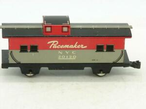 """Marx 20102 Tin Litho 7"""" New York Central NYC 4 Wheel Caboose with Knucle Coupler"""