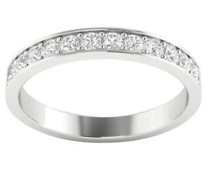 Genuine Diamond Wedding Ring SI1 G 0.50Ct 14K Solid Yellow Gold Prong Set 3.00MM