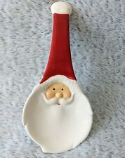 Christmas Collection Spoon Rest Ceramic Santa Face Holiday Décor Red White NEW
