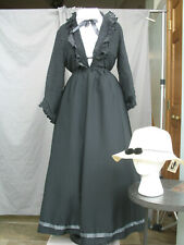 Victorian Dress Edwardian Costume Black & White Civil War Reenactment