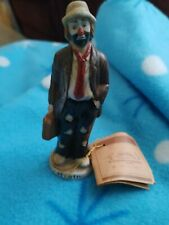 "Emmett Kelly Collection Flambro Figurine ""The Executive"" With Boss Suitcase"