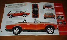 ★★1974 FIAT 124 ABARTH RALLYE ORIGINAL IMP BROCHURE 74 INFO SPECS 74 75 76 77 78