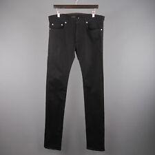 DIOR HOMME Size 33 Black Stretch Denim Skinny Jeans