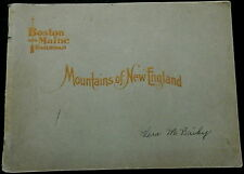 Victorian Brochure BOSTON & MAINE Railroad MOUNTAINS OF NEW ENGLAND Beautiful !!