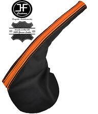 BLACK ORANGE LEATHER HANDBRAKE BOOT FITS FORD FALCON BA BF FPV GT XR6 XR8 02-07