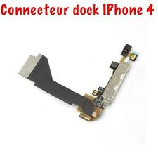 CHARGER CONNECTOR IPHONE 4 4S FLEX BUTTON DOCK + MICRO FOR 4 4S BLACK WHITE
