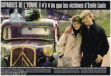 Coupure de presse Clipping 2001 (6 pages ) Les Disparues de l'Yonne