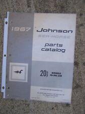 1967 Johnson 20 HP Sea Horse FD - FDL - 21R Outboard Motor Parts Catalog  L