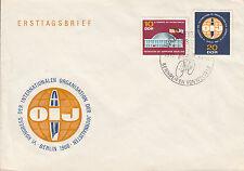 DDR FDC Ersttagsbrief 1966 Mi.1212+13 Sonderstempel Rennreifen Waltershausen