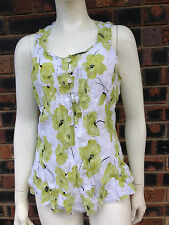 Millers Ladies Crush Top Lime Floral Size 10