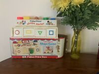 Fisher-Price Shape Sorter Vintage 1974 w/ box Child's Learning Preschool Toy