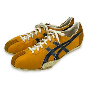 NOS Vintage 70's ONITSUKA TIGER Orange & Navy Track & Field Spikes Shoes Sz 10.5