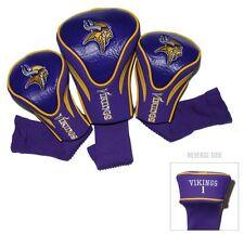 Minnesota Vikings Golf Club 3 Piece Headcover Set [NEW] NFL Head Cover Sock