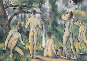 Postkarte: Paul Cezanne - Das Baden