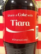 Share A Coke With Tiara Limited Edition Coca Cola Bottle 2014 USA