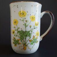 "Vintage Stoneware Buttercup No 104 Coffee Cup Mug Japan Brown Speckles 8 oz 4""T"